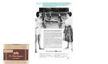 o.b.® tamponger historie - o.b.®s banebrytende år (1952)